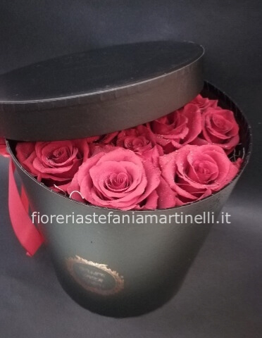 flower box rose fresche